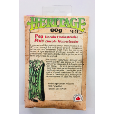 Semences de Pois Lincoln Homesteader