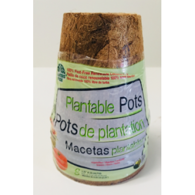 Paquet de 8 Pots 3 po Biodégradables