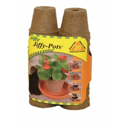 Paquet de 26 Pots 2 po Biodégradables Jiffy